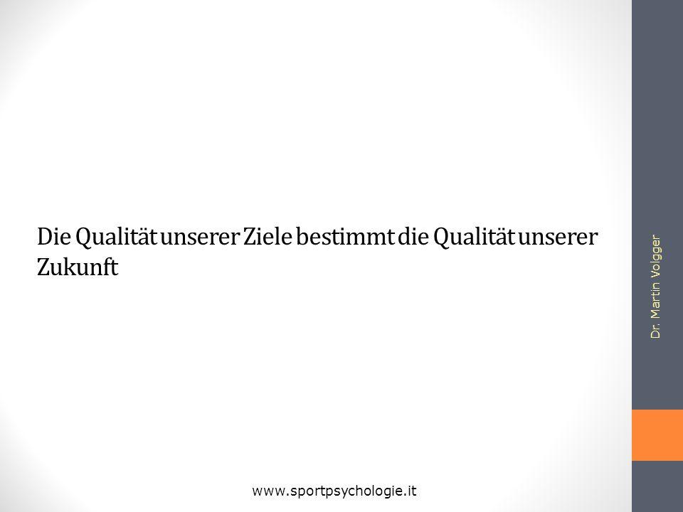 Die Qualität unserer Ziele bestimmt die Qualität unserer Zukunft