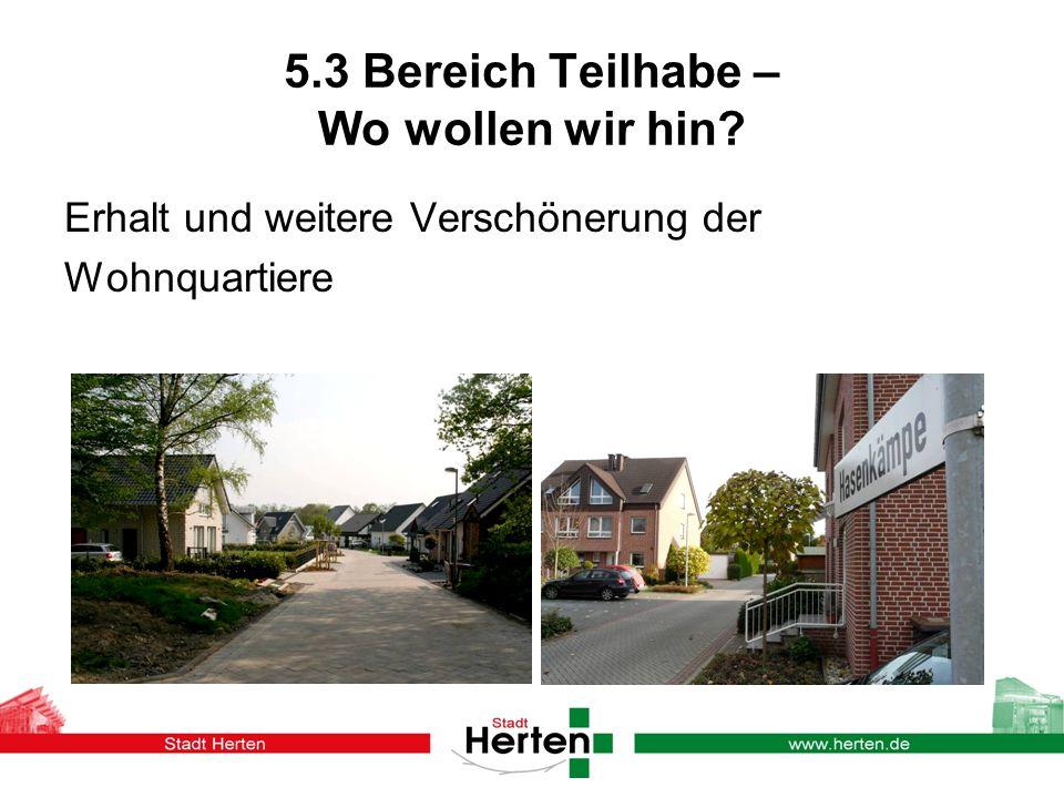 5.3 Bereich Teilhabe – Wo wollen wir hin