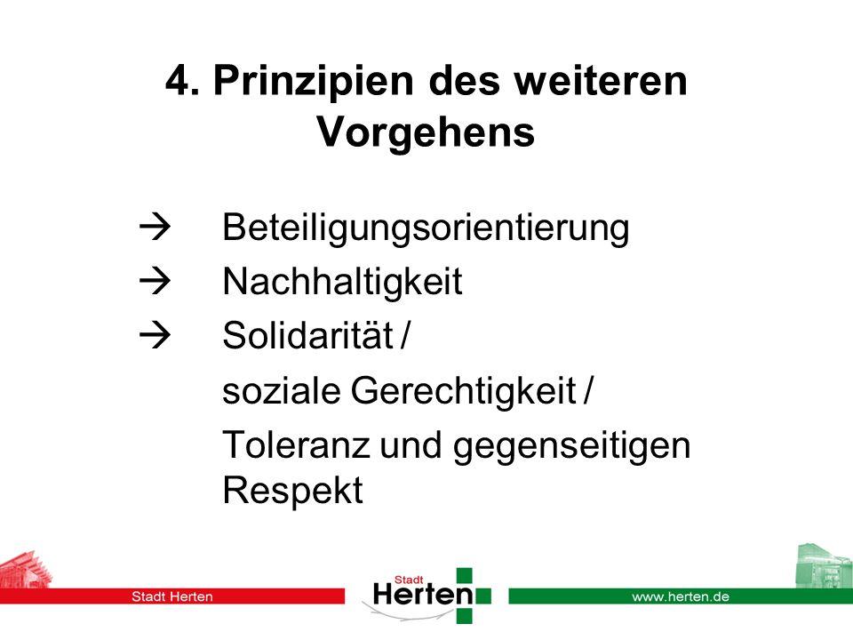 4. Prinzipien des weiteren Vorgehens