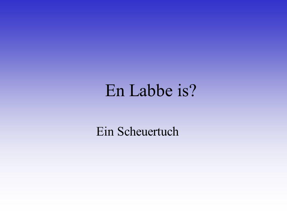 En Labbe is Ein Scheuertuch