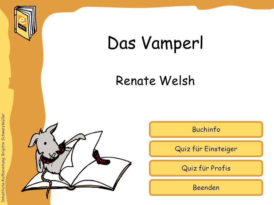 Das Vamperl Renate Welsh Buchinfo Quiz für Einsteiger Quiz für Profis
