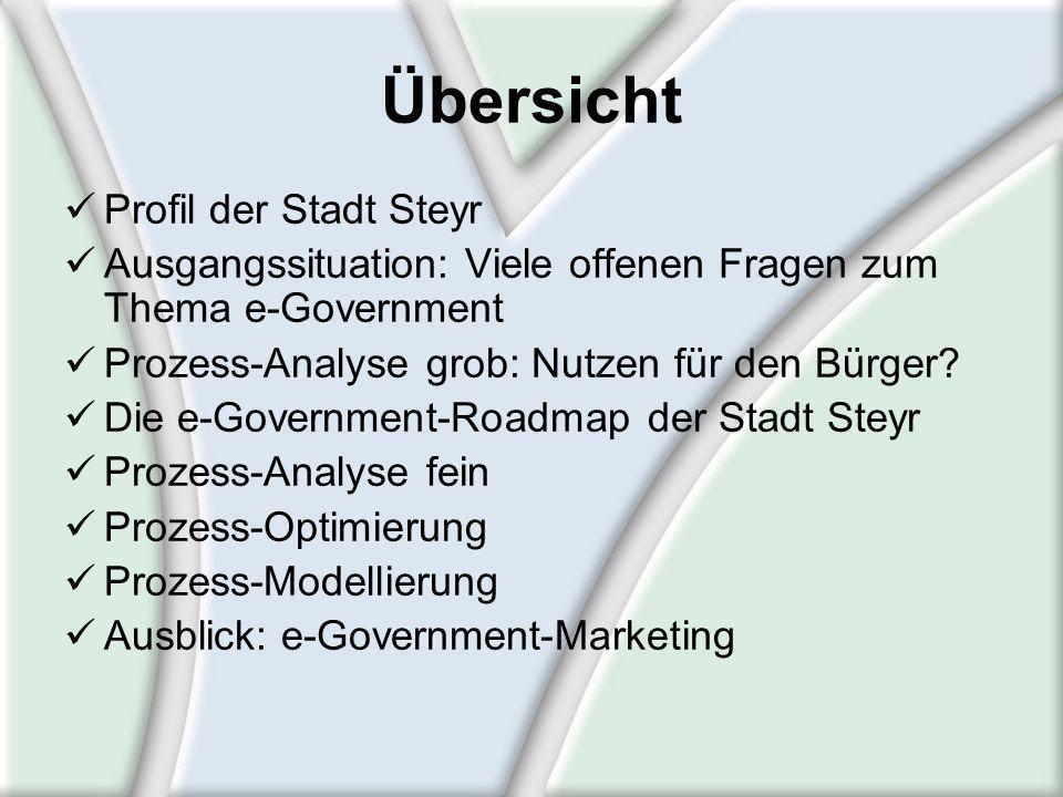 Übersicht Profil der Stadt Steyr