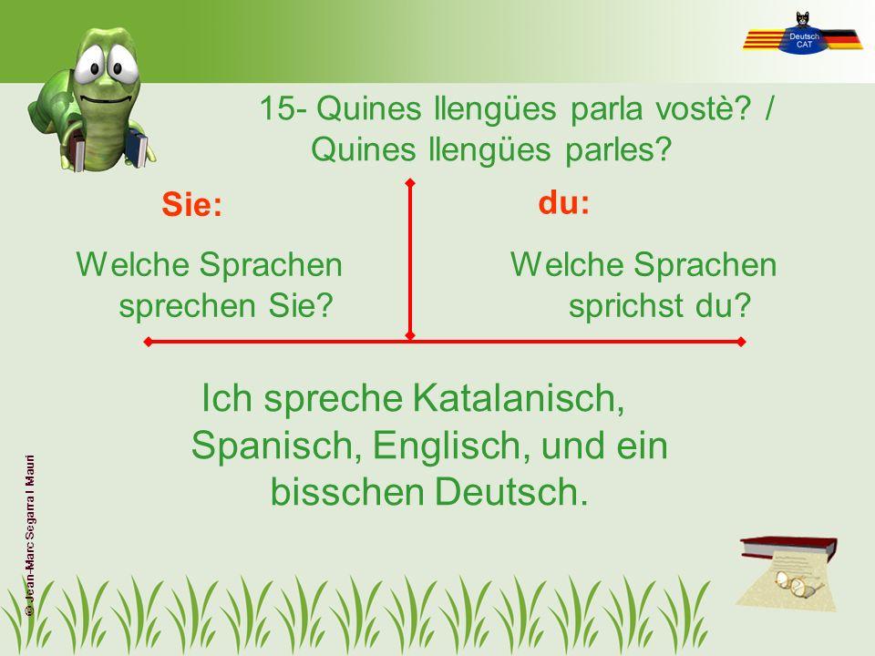 15- Quines llengües parla vostè / Quines llengües parles