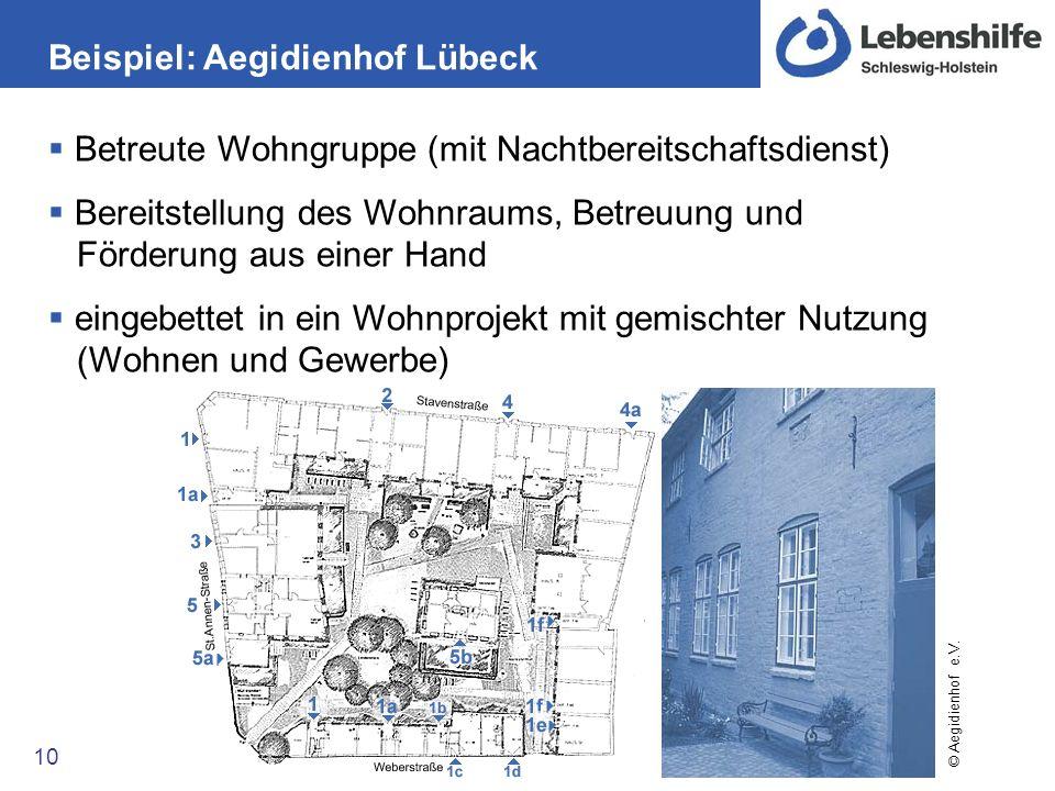 Beispiel: Aegidienhof Lübeck