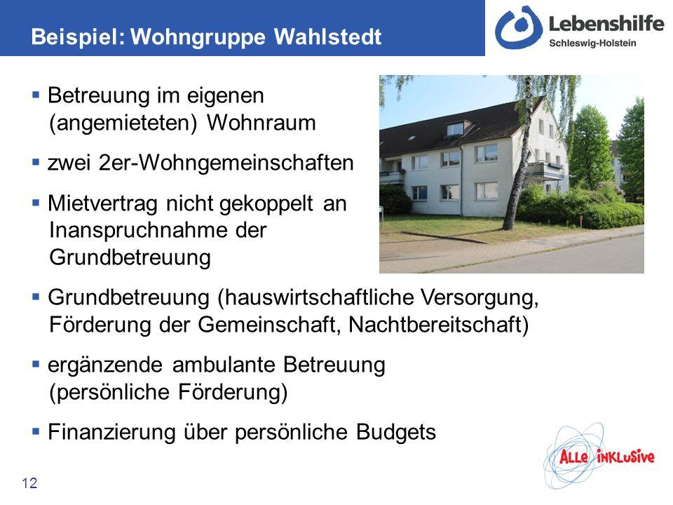 Beispiel: Wohngruppe Wahlstedt