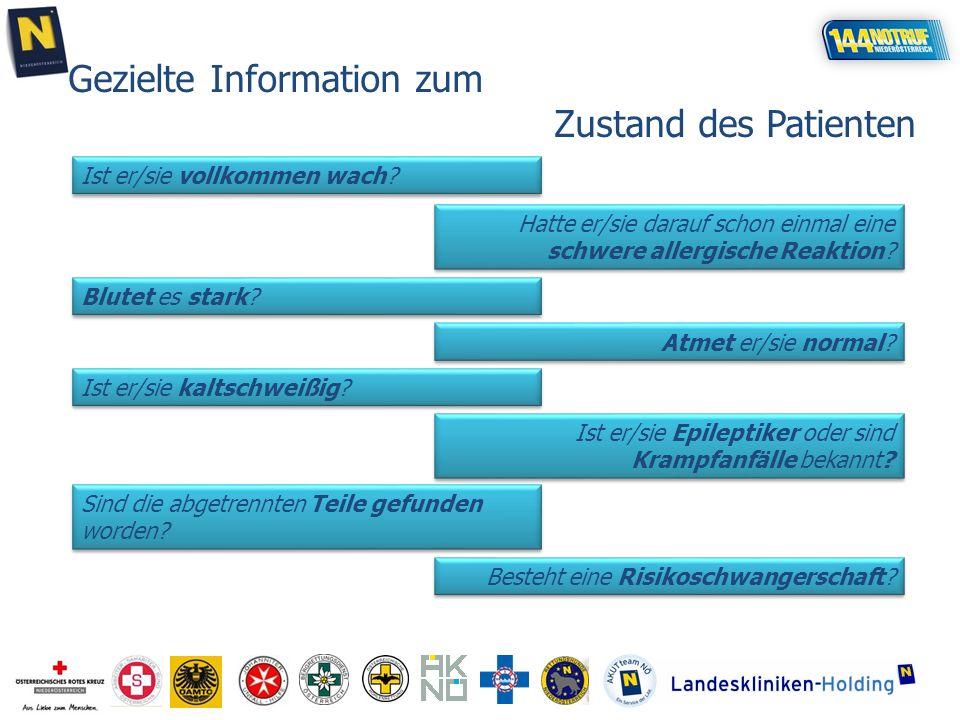 Gezielte Information zum Zustand des Patienten