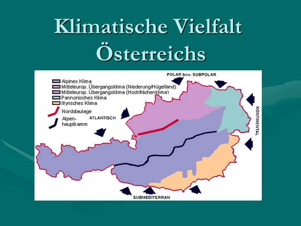 Klimatische Vielfalt Österreichs