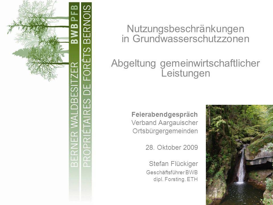 Nutzungsbeschränkungen in Grundwasserschutzzonen