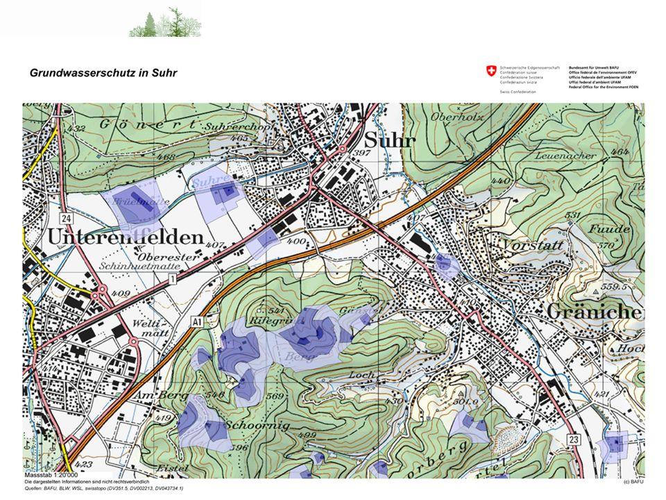 Wo liegt das Problem Schutzzone S3 – weiterer Bereich Zone Vorschrift