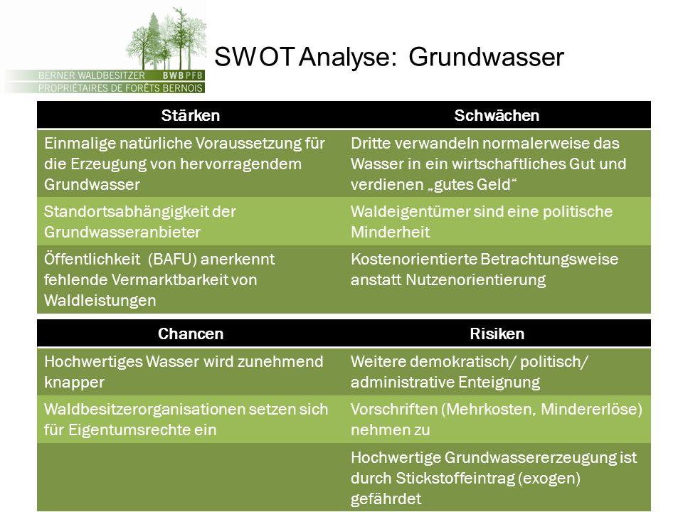 SWOT Analyse: Grundwasser