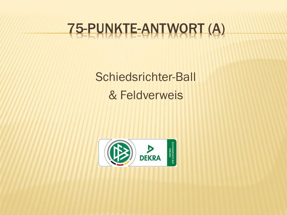 Schiedsrichter-Ball & Feldverweis