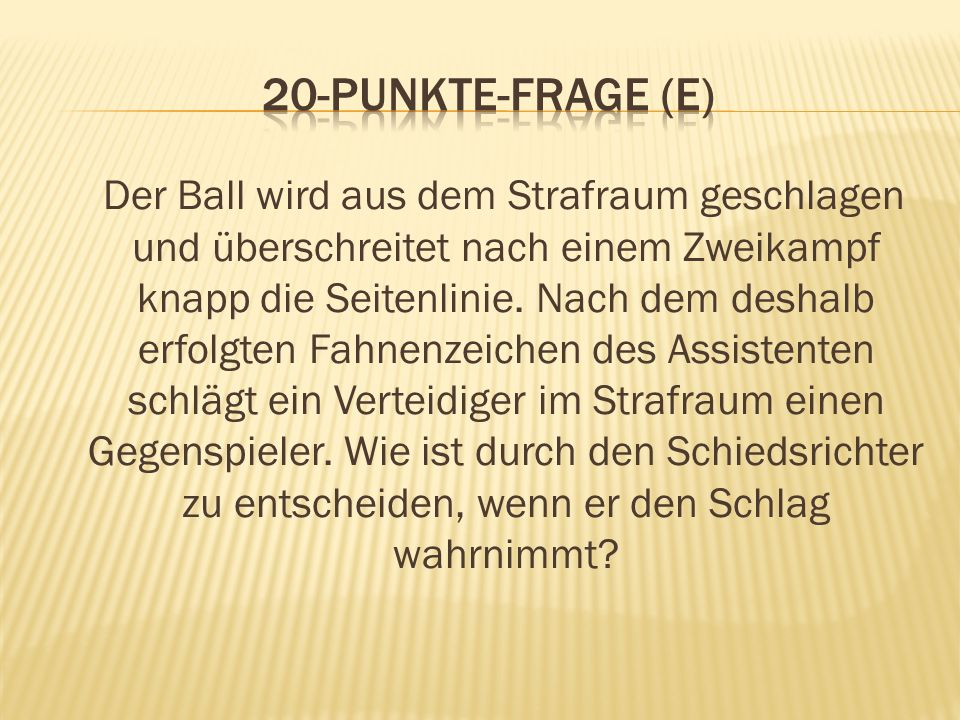 20-Punkte-Frage (E)