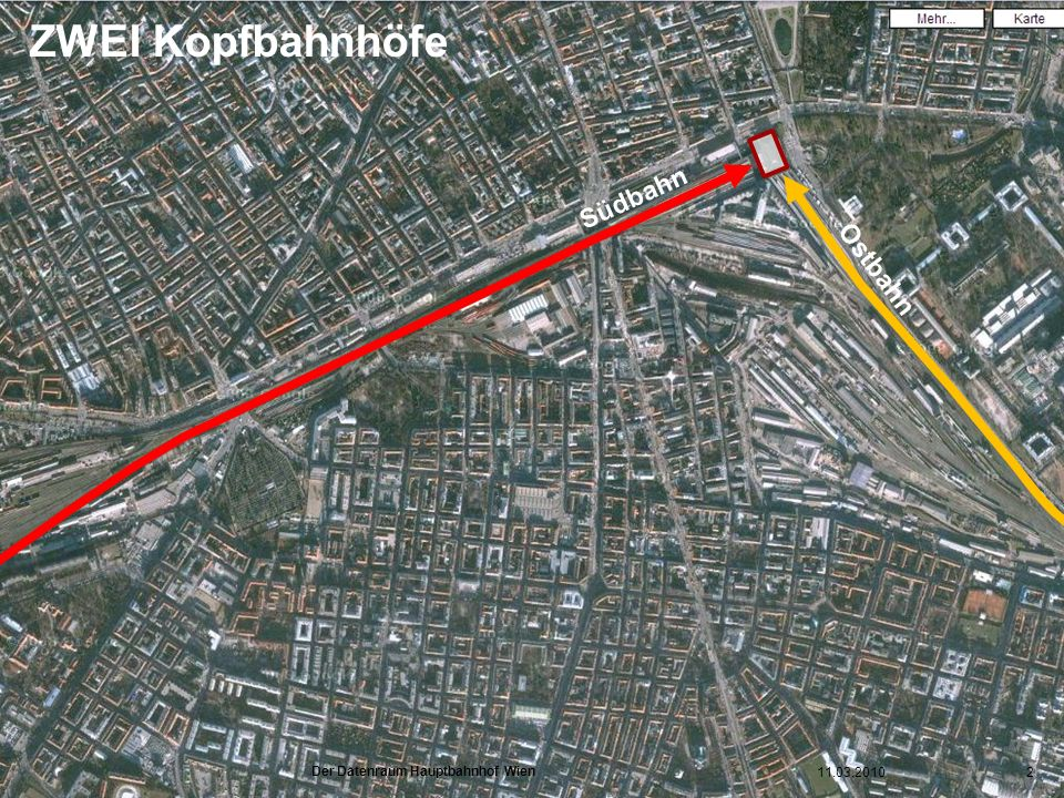 ZWEI Kopfbahnhöfe Südbahn Ostbahn Historisch: ZWEI Kopfbahnhöfe