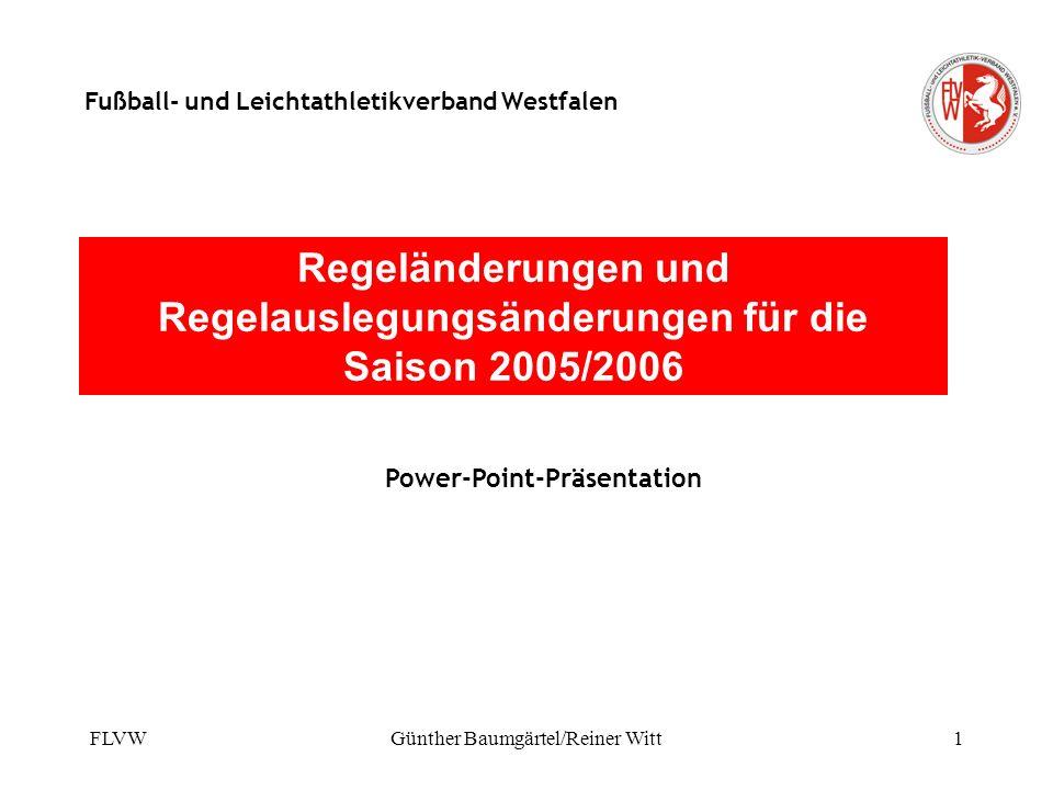 Regeländerungen und Regelauslegungsänderungen für die Saison 2005/2006