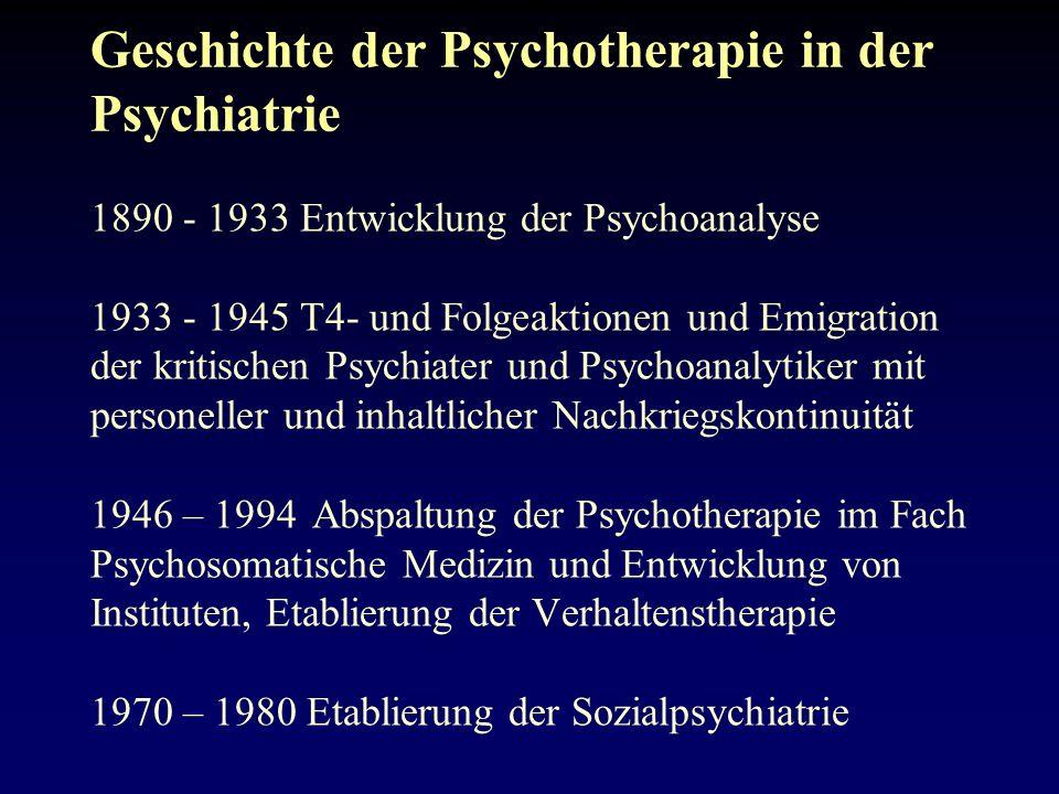 Geschichte der Psychotherapie in der Psychiatrie