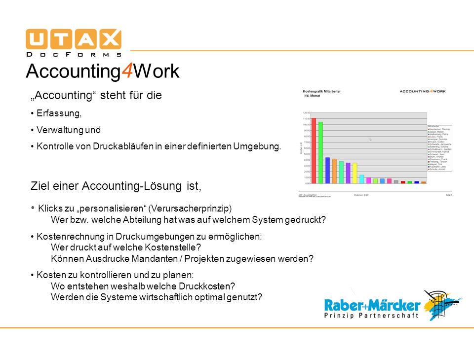 """Accounting4Work """"Accounting steht für die"""