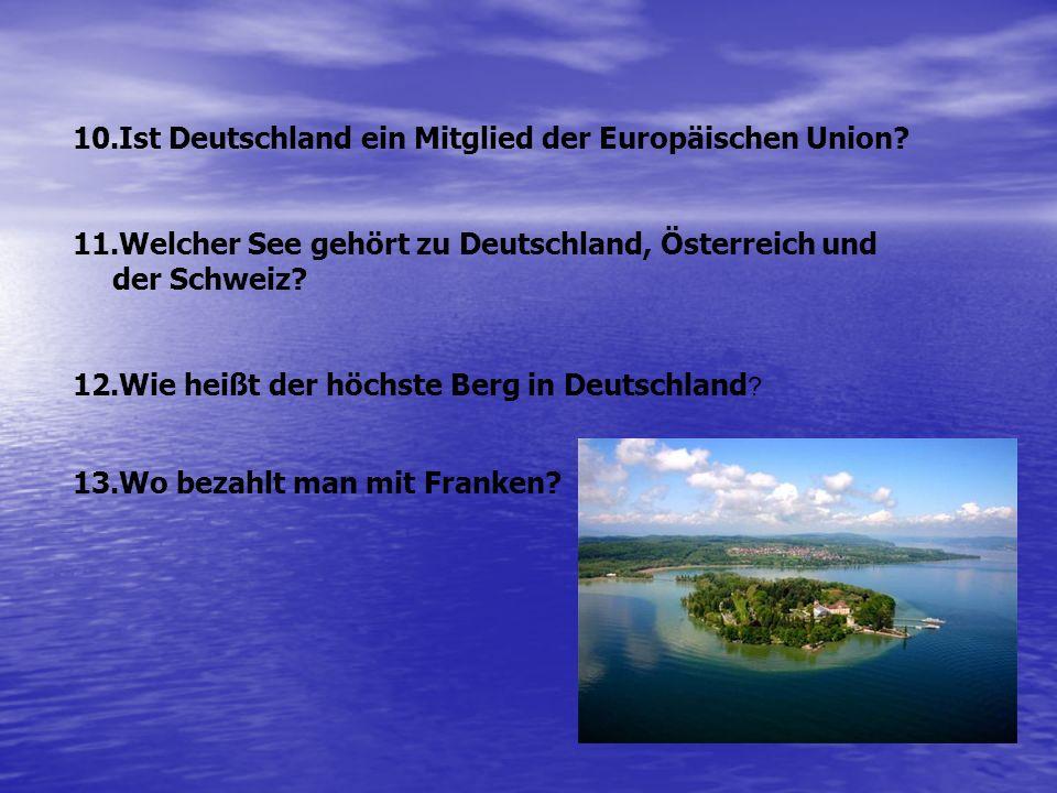 Ist Deutschland ein Mitglied der Europäischen Union