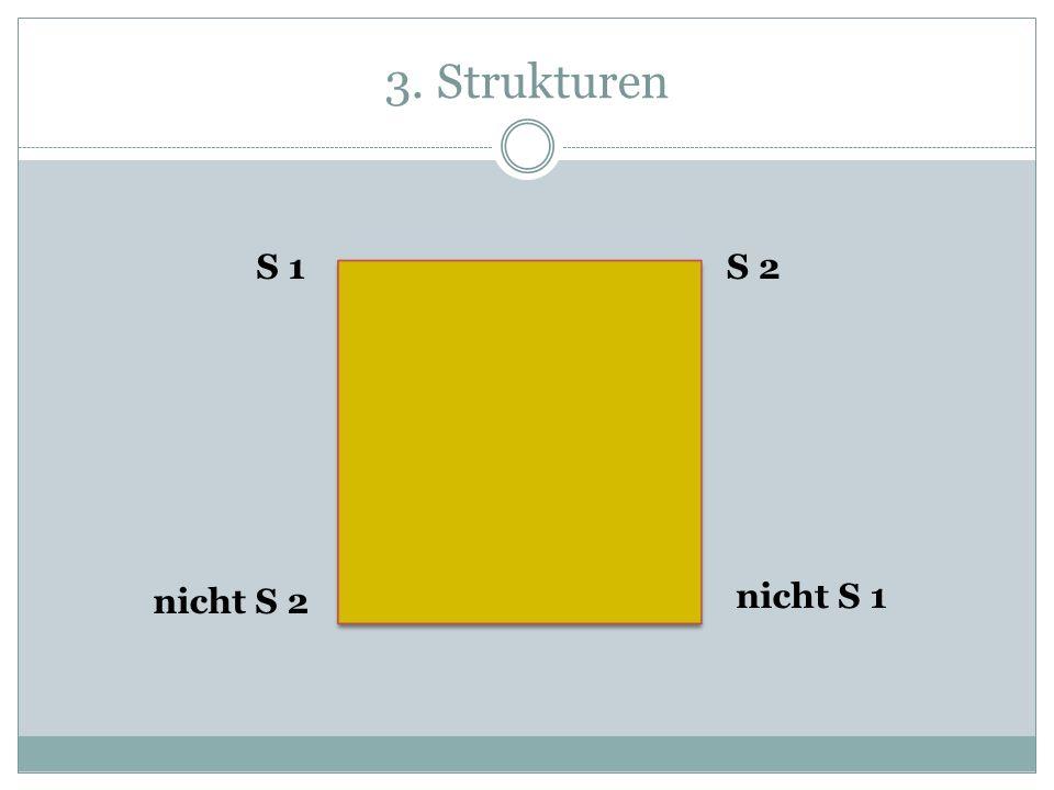 3. Strukturen S 1 S 2 nicht S 2 nicht S 1