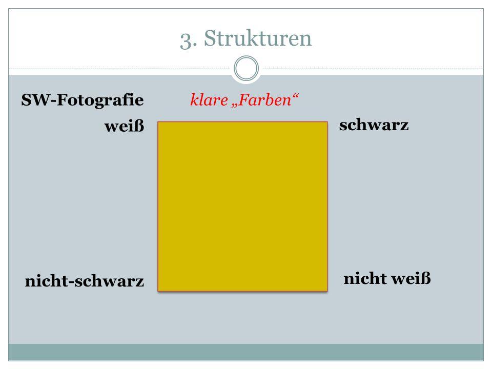 """3. Strukturen SW-Fotografie klare """"Farben weiß schwarz nicht-schwarz"""