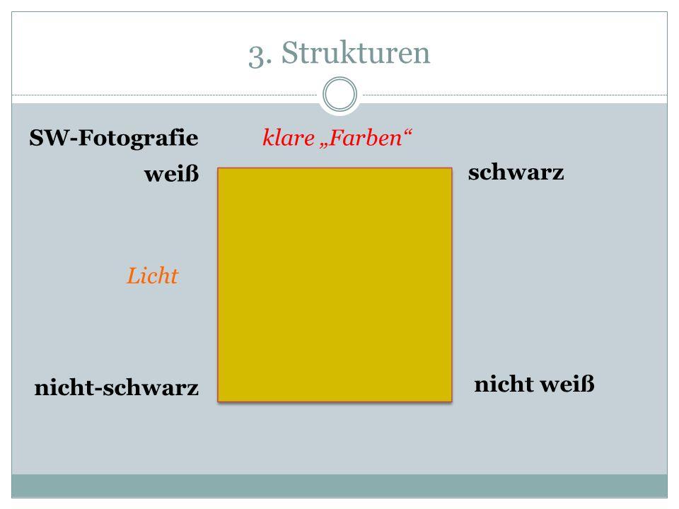"""3. Strukturen SW-Fotografie klare """"Farben weiß schwarz Licht"""
