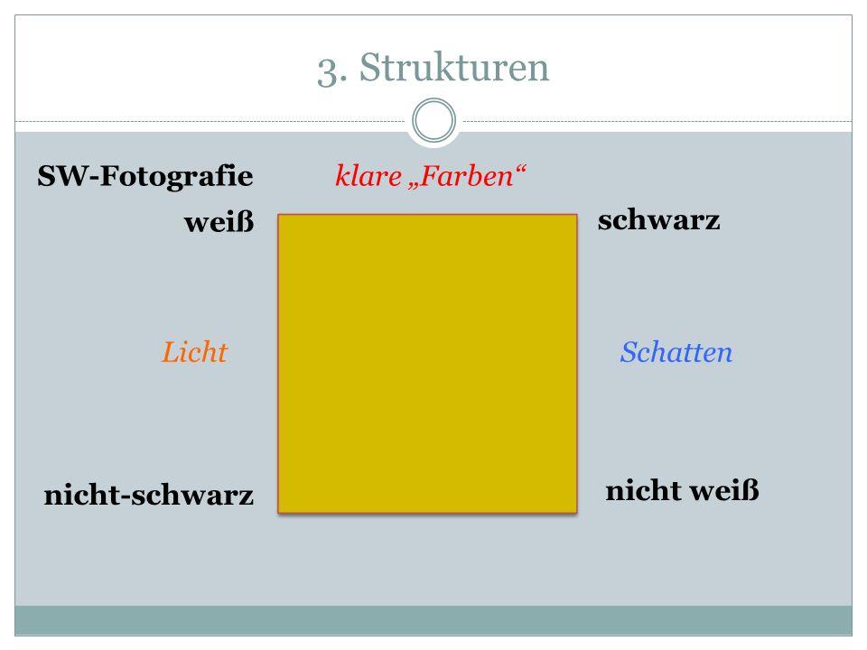 """3. Strukturen SW-Fotografie klare """"Farben weiß schwarz Licht Schatten"""