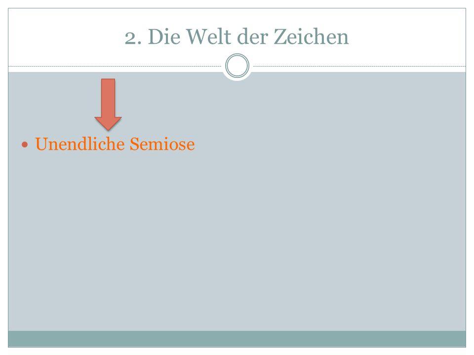 2. Die Welt der Zeichen Unendliche Semiose