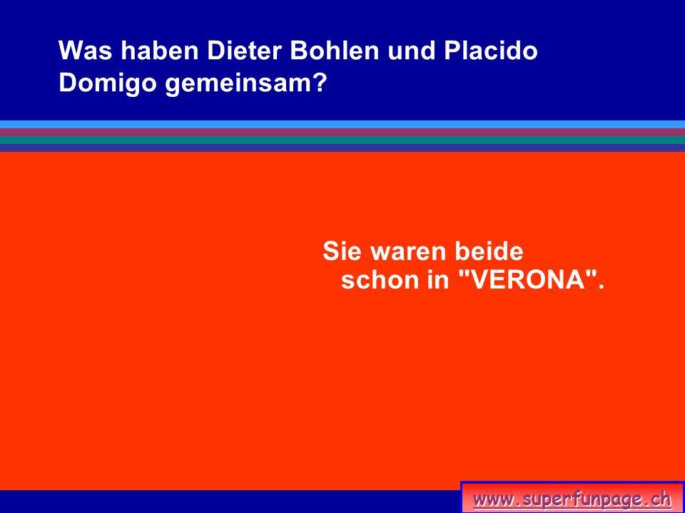 Was haben Dieter Bohlen und Placido Domigo gemeinsam