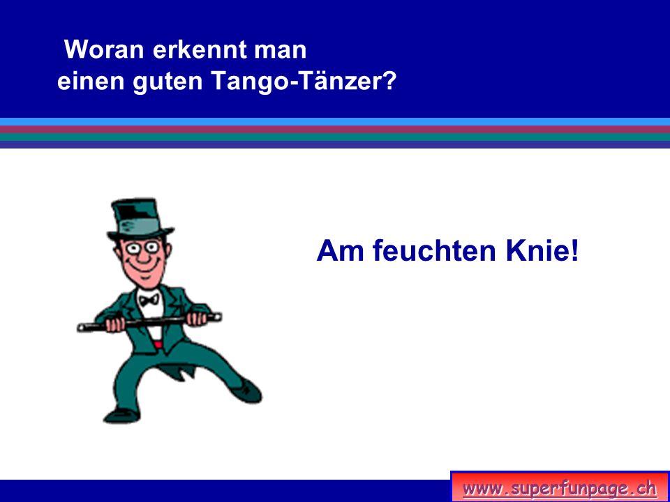 Woran erkennt man einen guten Tango-Tänzer