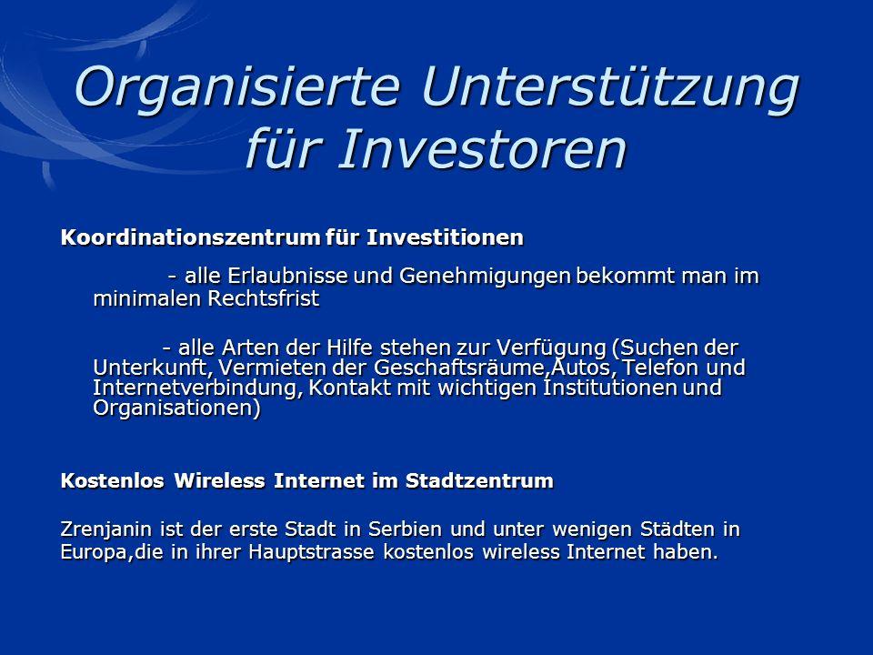 Organisierte Unterstützung für Investoren