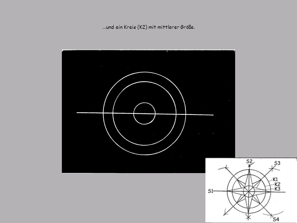 ...und ein Kreis (K2) mit mittlerer Größe.