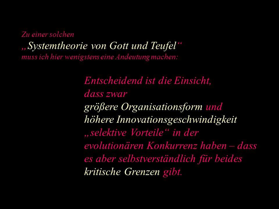 """""""Systemtheorie von Gott und Teufel"""