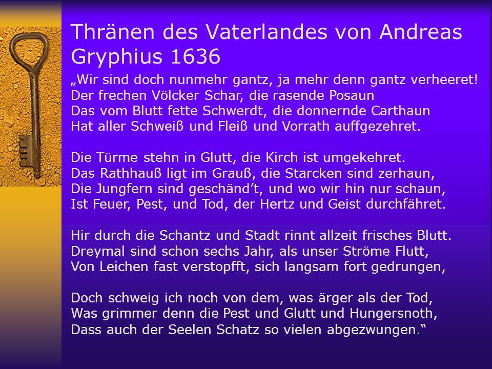 Thränen des Vaterlandes von Andreas Gryphius 1636