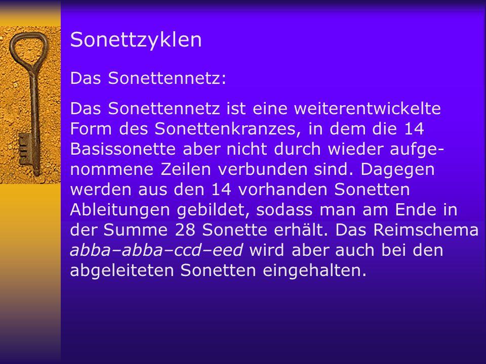 Sonettzyklen Das Sonettennetz: