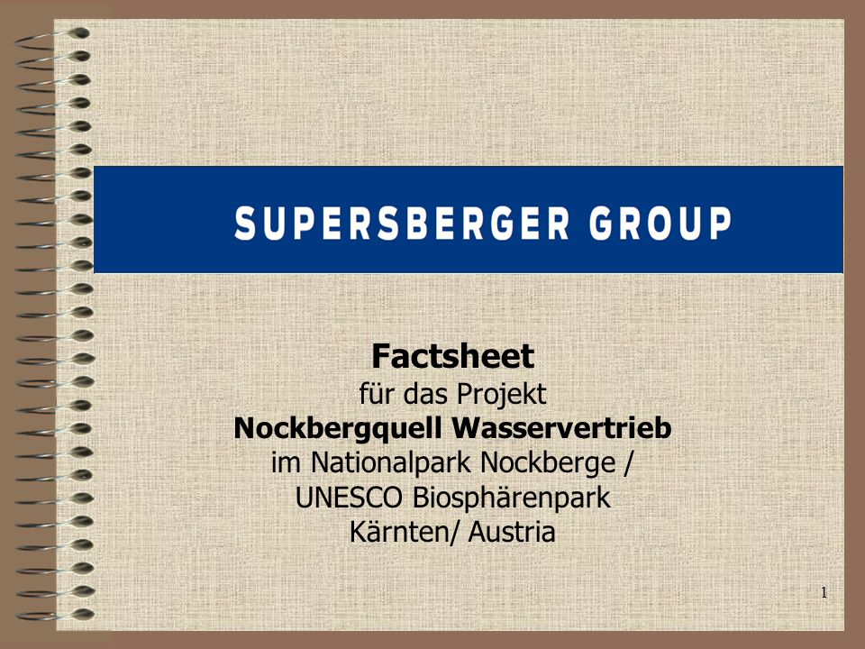 Nockbergquell Wasservertrieb