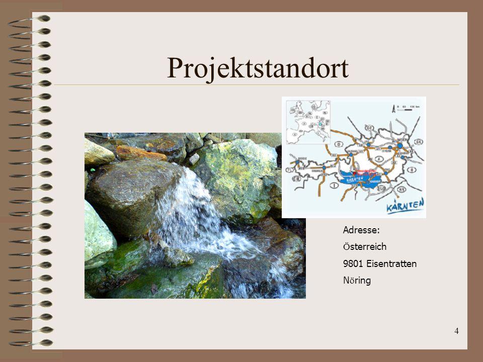 Projektstandort Adresse: Österreich 9801 Eisentratten Nöring