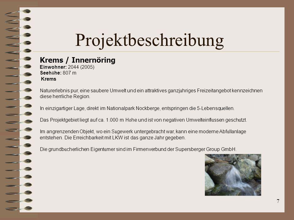 Projektbeschreibung Krems / Innernöring Einwohner: 2044 (2005)