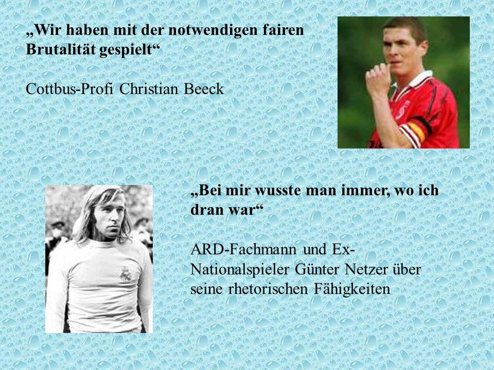 """""""Wir haben mit der notwendigen fairen Brutalität gespielt Cottbus-Profi Christian Beeck"""