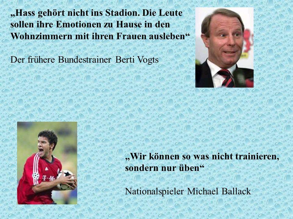 """""""Hass gehört nicht ins Stadion"""