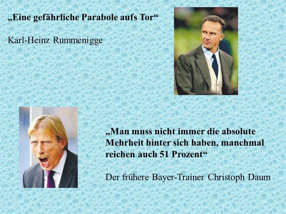 """""""Eine gefährliche Parabole aufs Tor Karl-Heinz Rummenigge"""