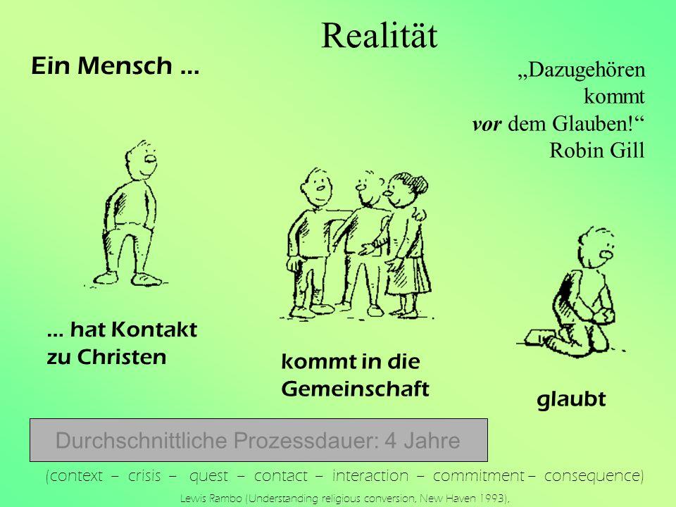 """Realität Ein Mensch … """"Dazugehören kommt vor dem Glauben! Robin Gill"""