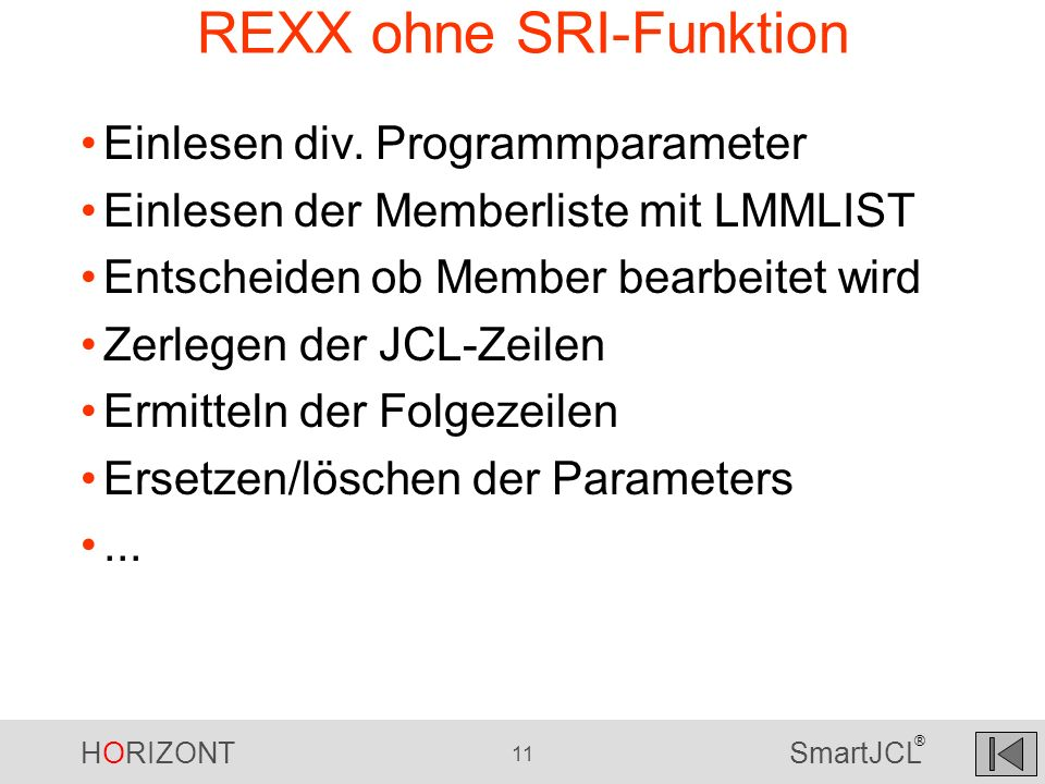 REXX ohne SRI-Funktion
