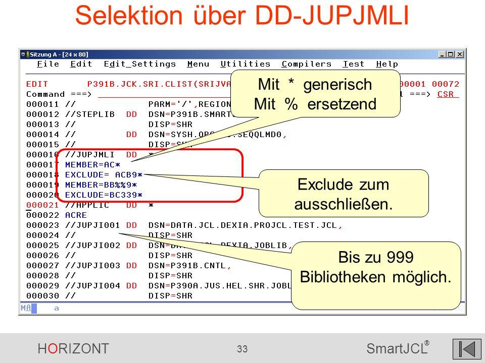 Selektion über DD-JUPJMLI