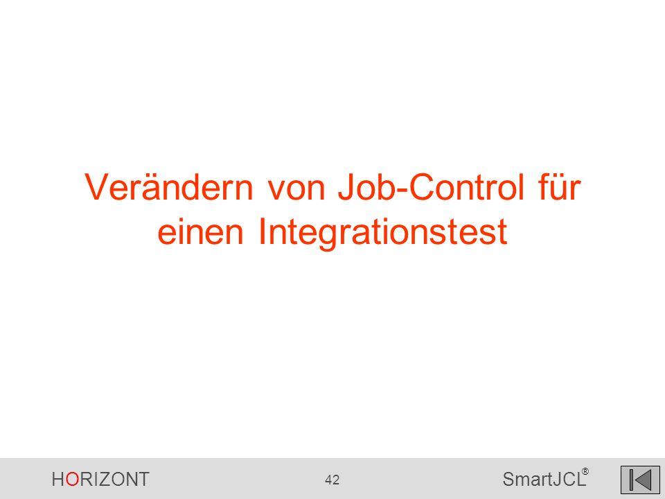 Verändern von Job-Control für einen Integrationstest