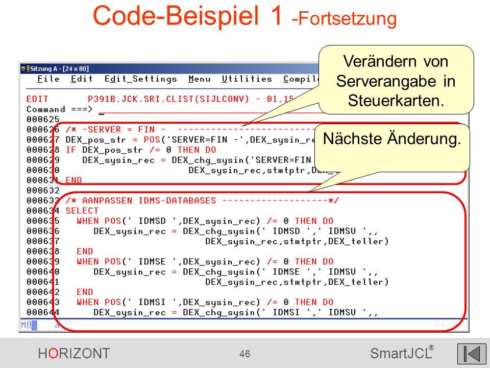 Code-Beispiel 1 -Fortsetzung