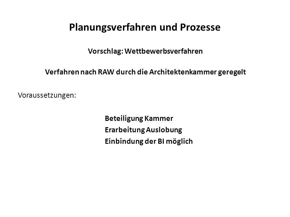 Planungsverfahren und Prozesse