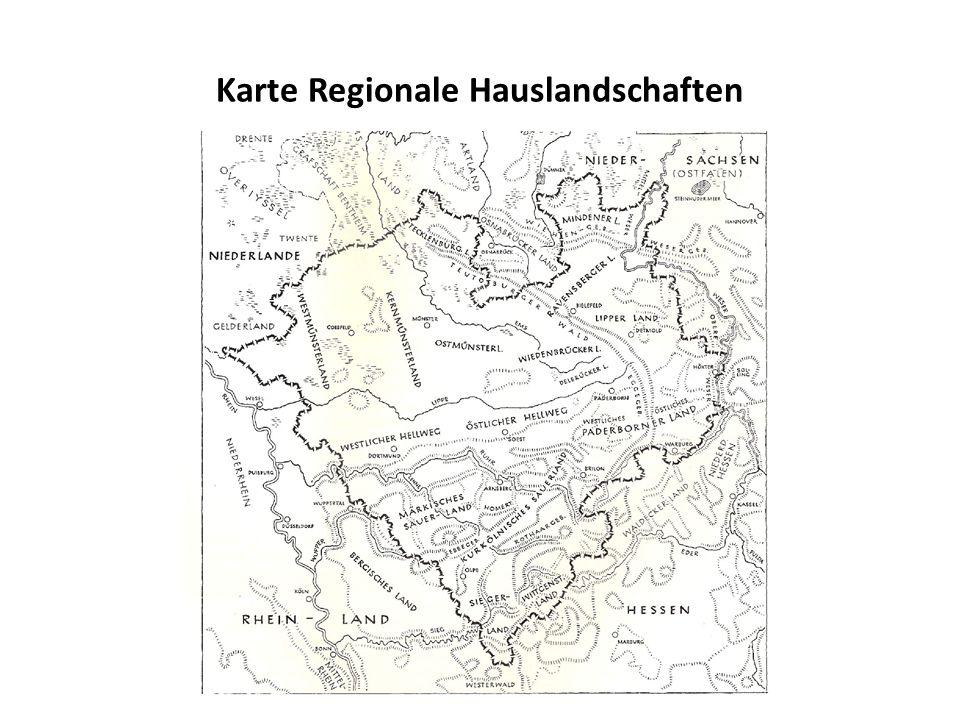 Karte Regionale Hauslandschaften