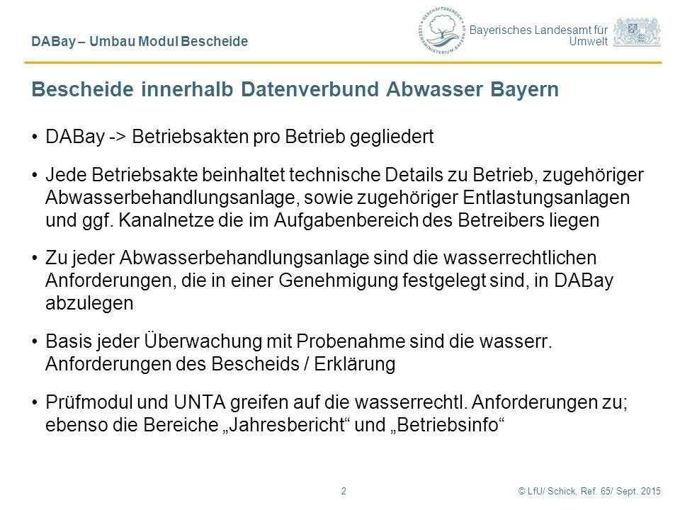 Bescheide innerhalb Datenverbund Abwasser Bayern