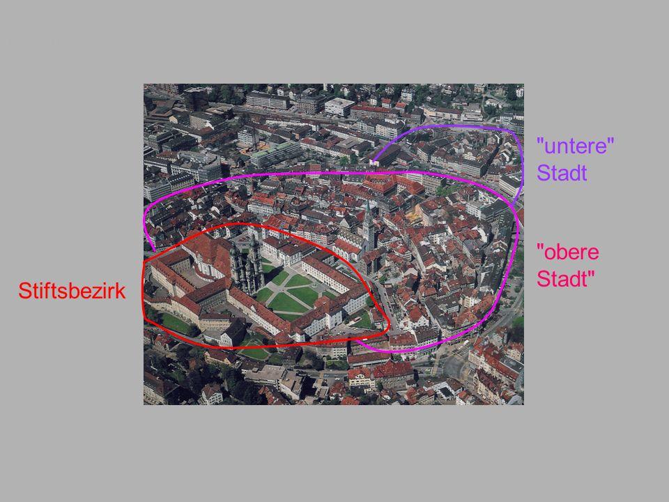 Luftbild untere Stadt obere Stadt Stiftsbezirk