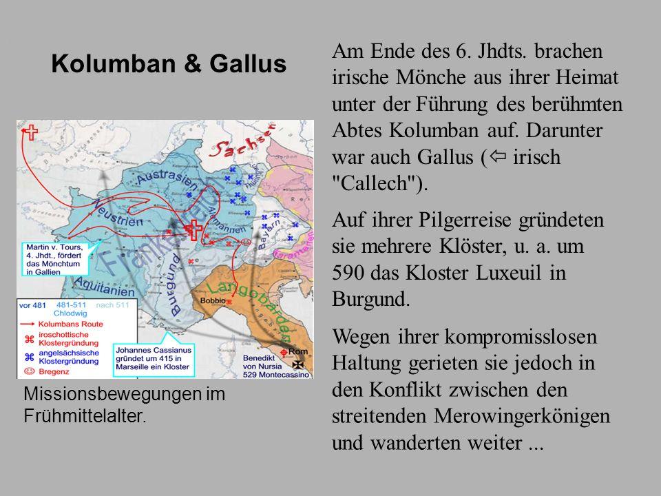 Pilgerreise Missionsbewegungen im Frühmittelalter.