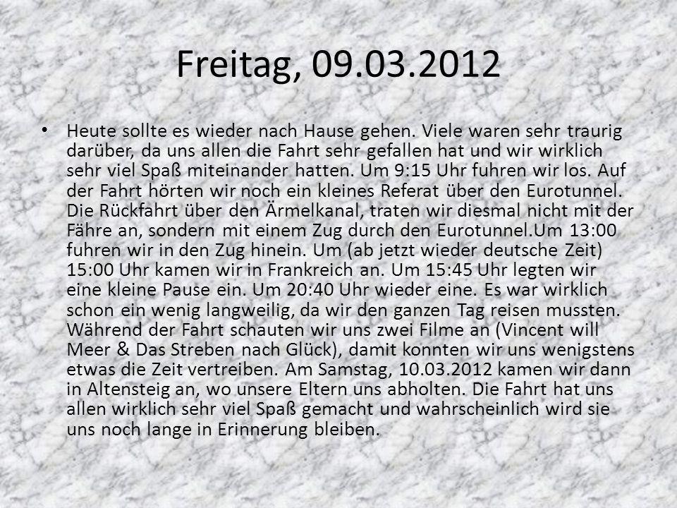 Freitag, 09.03.2012